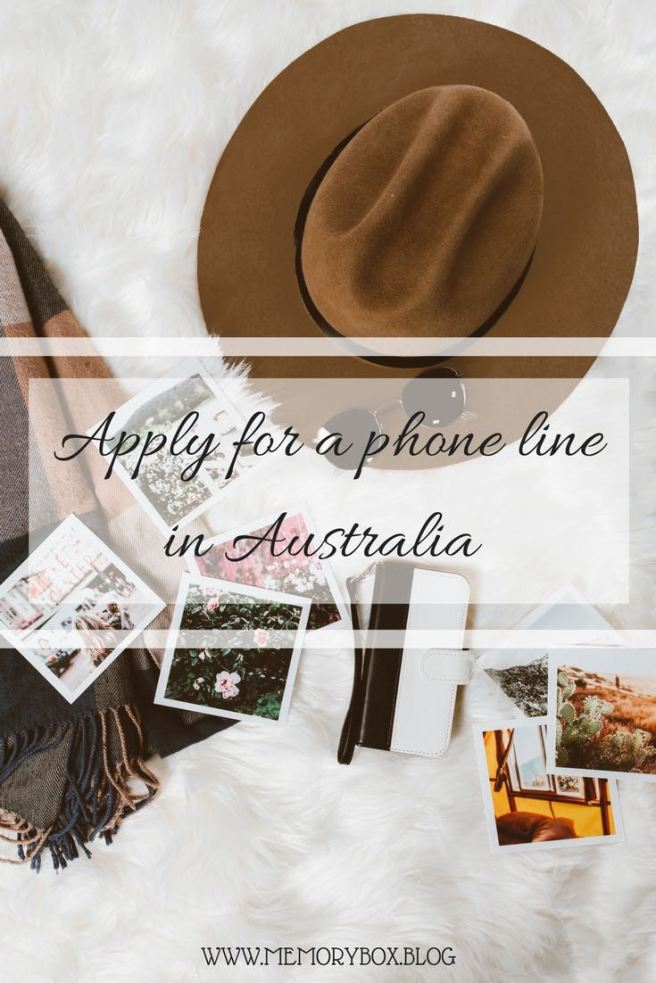 Apply for a phone line in Australia